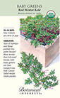 Baby Greens Red Russian Kale Organic HEIRLOOM Seeds (LG)